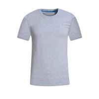 圆领广告衫定制 企业工作服印LOGO活动文化衫男式t恤新款