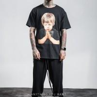 男装2018欧美小鬼当家男式t恤小孩印花男士T恤短袖